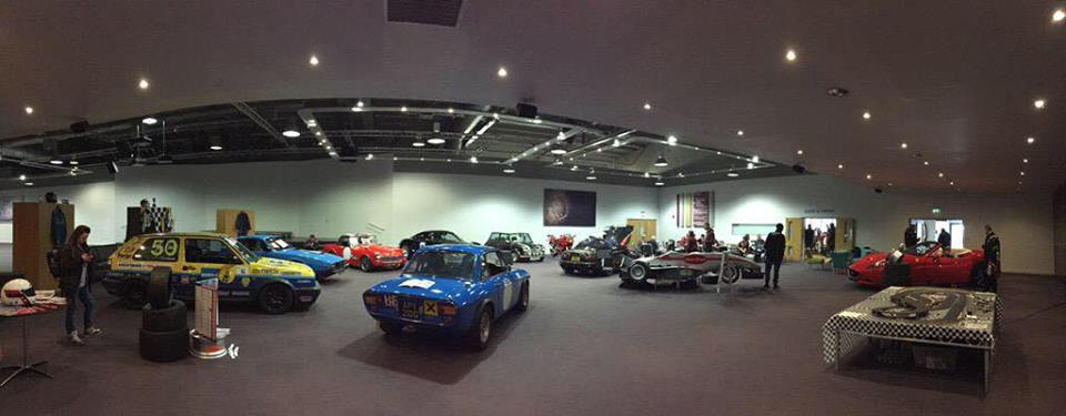 Panoramic shot of the Trent Vineyard auditorium for the Motorsport Breakfast