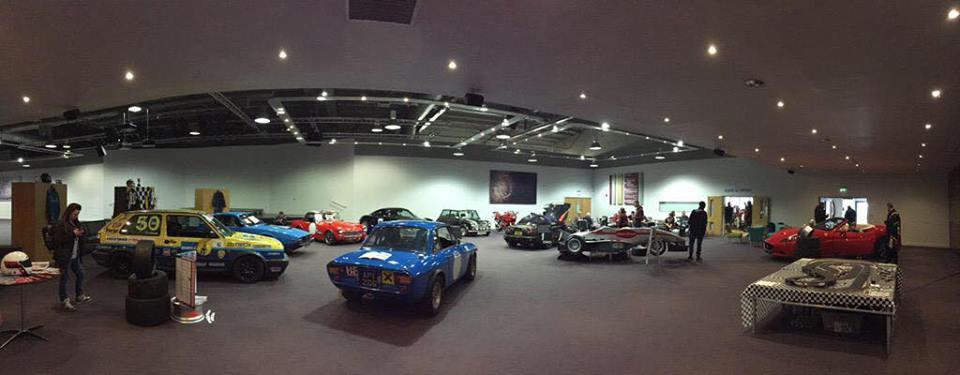 Panoramic shot of the Trent Vineyard auditorium for the Motorsport Breakfast